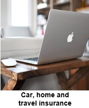 Car, home and travel insurance